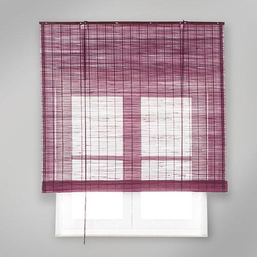 Estor enrollable de bambú violeta inspire de 120x230cm