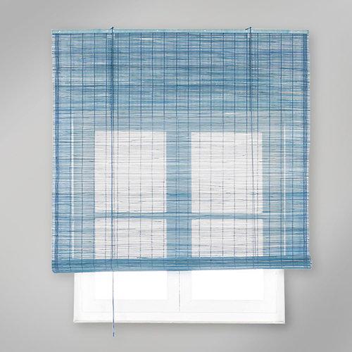 Estor enrollable de bambú azul inspire de 90x230cm