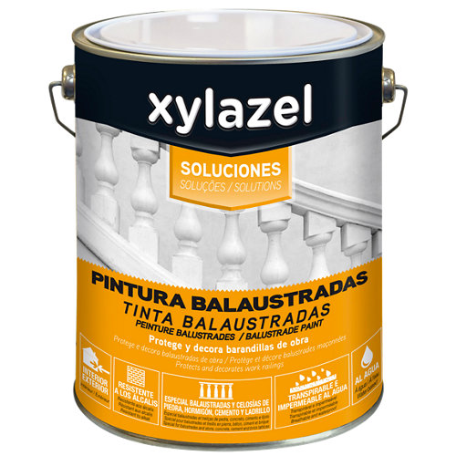 Pintura para balaustradas mate blanca xylazel de 4l