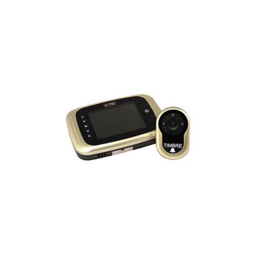 Mirilla digital mod 751 pantalla lcd dorado con grabación, detector de presencia
