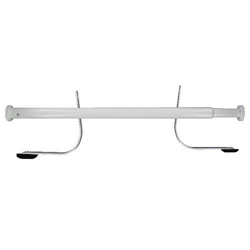 Barra y abrazaderas en blanco para ventana techo 55-78 cm