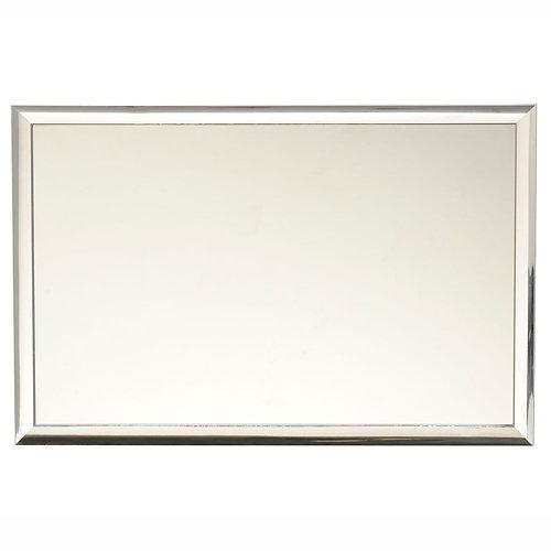 Espejo de baño arica gris / plata 40 x 60 cm