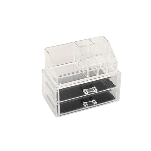 Organizador maquillaje transparente 18.8x15.8x11.7 cm