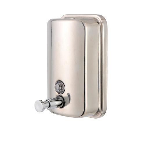 Dispensador de jabón . de acero inoxidable gris / plata