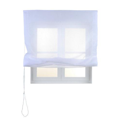 Estor plegable blanco flamen 120x175 cm