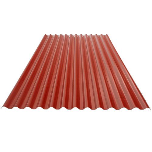 Placa ecolina roja 3000x1104x18 mm onda pequeña