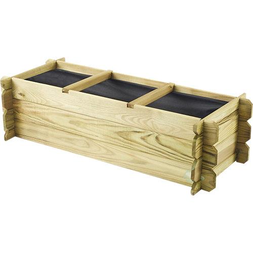 Huerto urbano de suelo de madera basil 140x60x40 cm