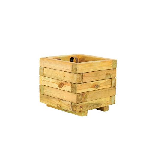 Jardinera de madera forest style beige 30x28 cm