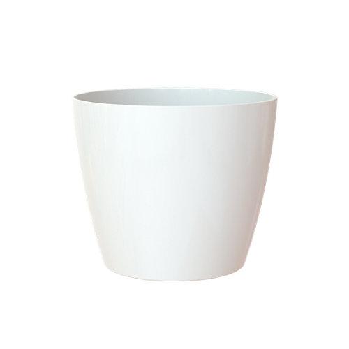 Maceta redonda san remo blanco 30x30x27,3cm