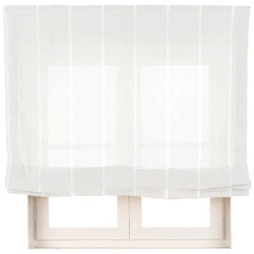 Estor plegable blanco bolonia 75x250 cm