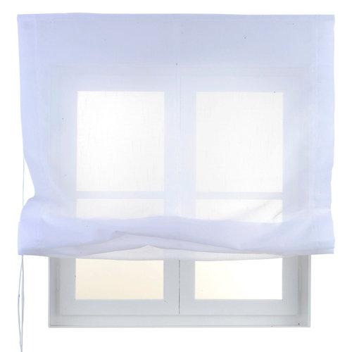 Estor plegable blanco flamen 75x250 cm