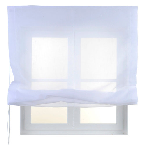 Estor plegable blanco flamen 105x250 cm