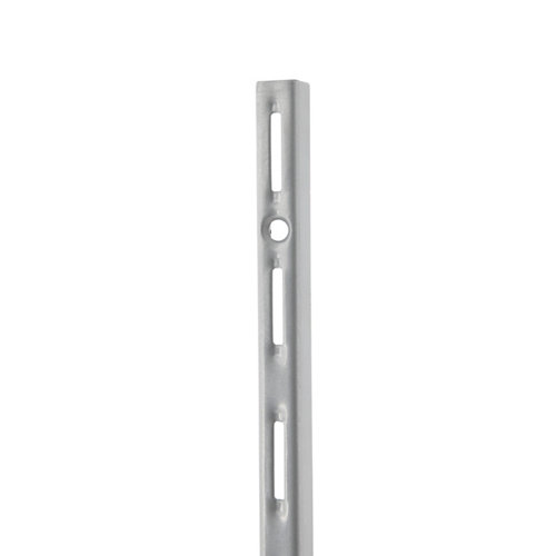 Cremallera simple de acero color gris de 50 cm