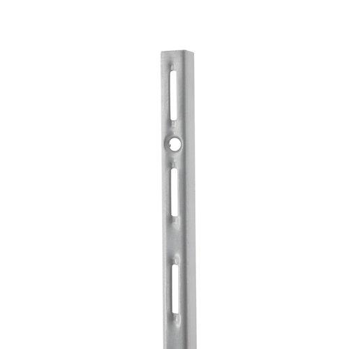 Cremallera simple de acero color gris de 100 cm