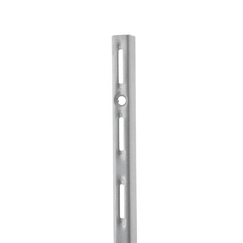 Cremallera simple de acero color gris de 150 cm