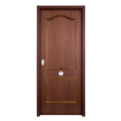 Puerta de entrada acorazada serie v derecha sapelli de 89x206 cm