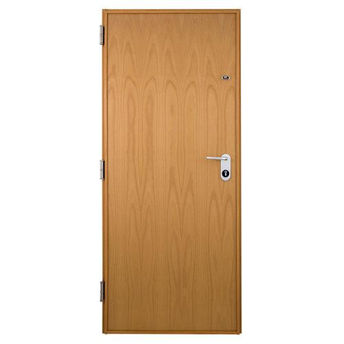 Puerta de entrada acorazada serie v derecha haya de 89x206 cm