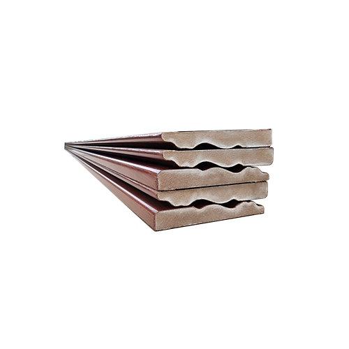 Jamba de madera rechapada sapelly de 2,02 m