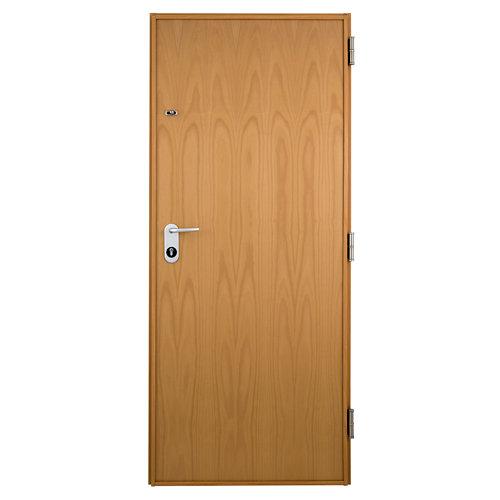 Puerta de entrada acorazada serie v izquierda haya de 89x206 cm