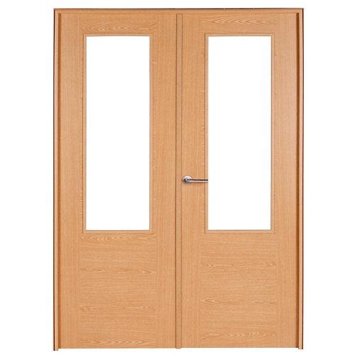 puerta canarias roble de apertura derecha de 145 cm