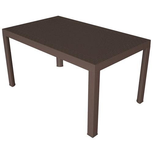 Mesa de jardín de comedor de resina dream marrón de 85x73x140 cm