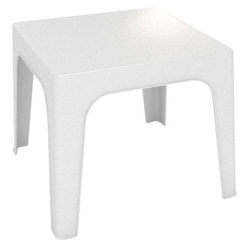 Mesa auxiliar de jardín de resina mónaco blanco de 76x45x50 cm
