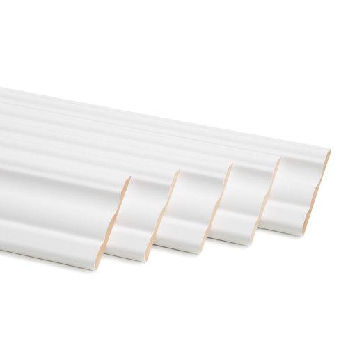 Kit de 5 jambas de madera blanco 70 x 10 mm