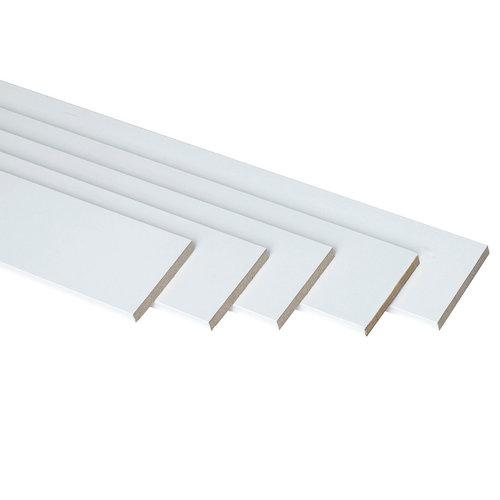 Kit de 5 jambas de madera lisa blanco 70 x 10 mm
