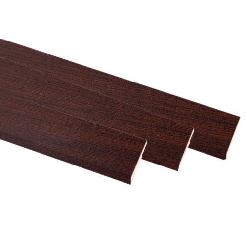 Kit de 3 molduras mdf wengué 50 x 10 mm
