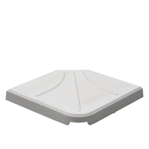 Pie de parasol cuadrada cemento de 26 kg