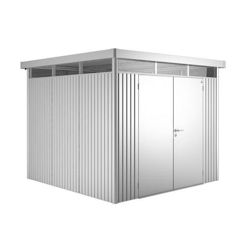 Caseta de metal h4 plata de 275x222x275 cm y 7.56 m2