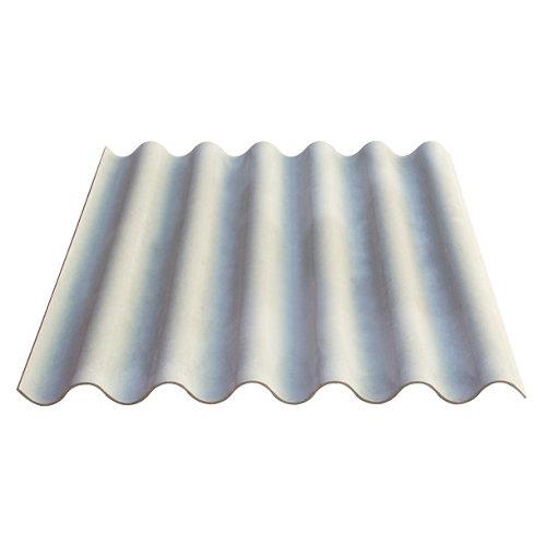 Placa de fibrocemento granonda natural 110x152x0,6 cm