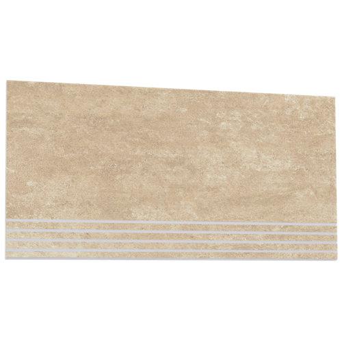 Peldaño porcelánico terranova 31,6x63,7 simple-ivory artens