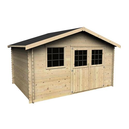 Caseta de madera floran de 430x251x402 cm y 17.31 m2