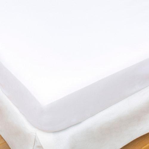 Sábana bajera algodón blanco para cama 90 / 105 cm