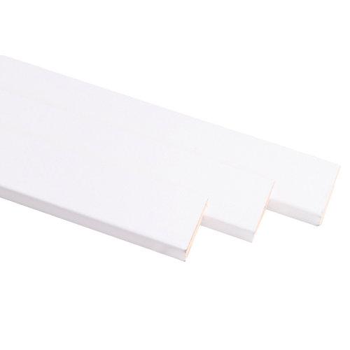 Kit de 3 molduras de madera blanco 60 x 10 mm