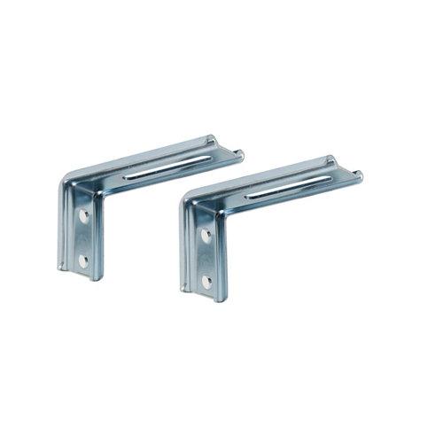 2 esucadras pared fijas aluminio 8 cm
