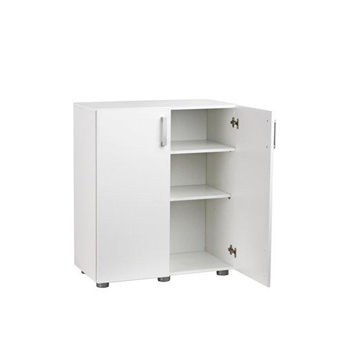 Armario bajo en color blanco de 92x79x42 cm con 2 puertas.