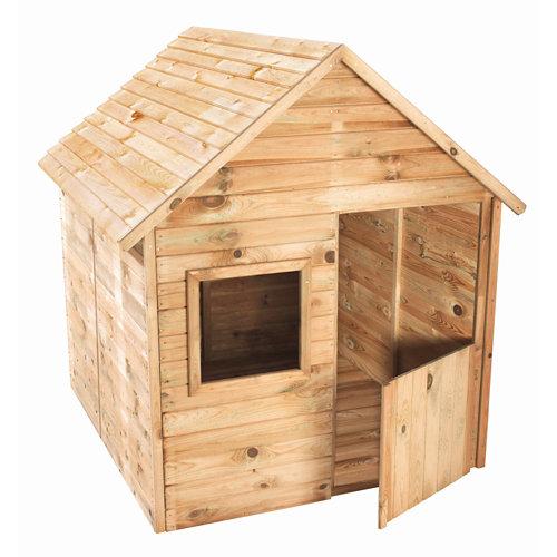 Caseta infantil de madera marina 123x119x158cm