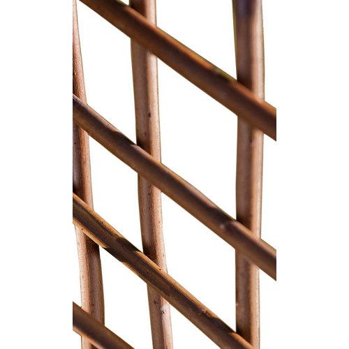 Celosía extensible de mimbre marrón 50x150 cm