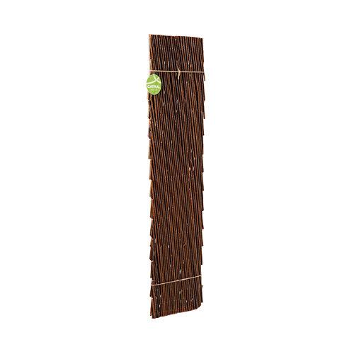 Celosía extensible de mimbre marrón 100x200 cm