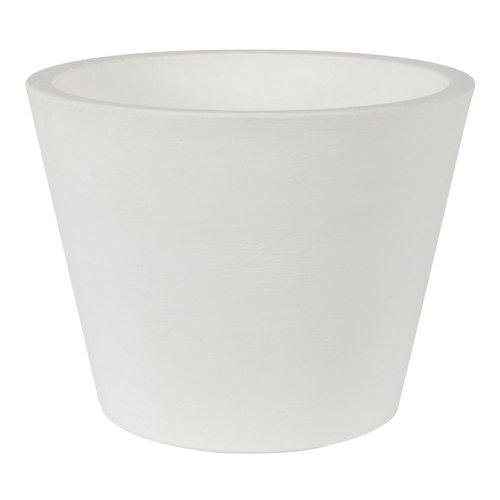 Maceta de polietileno newgarden blanco 36x28 cm