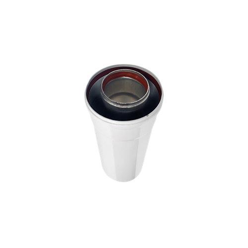 Tubo coaxial aluminio 1000 mm m-h 80/110