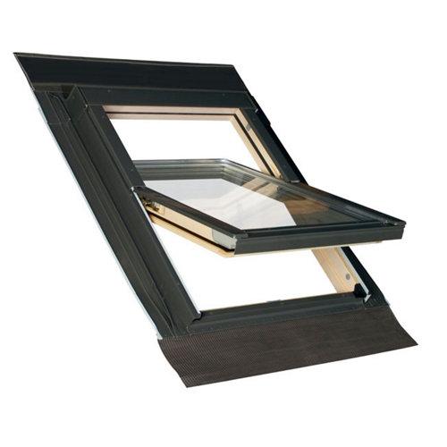 Ventana para tejado manual de madera pivotante de 55x78cm