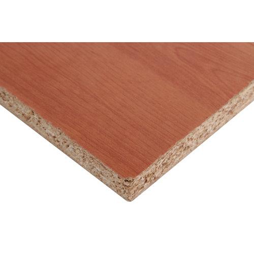 Tablero aglomerado de melamina cerezo de 122x244x1,6 cm (anchoxaltoxgrosor)