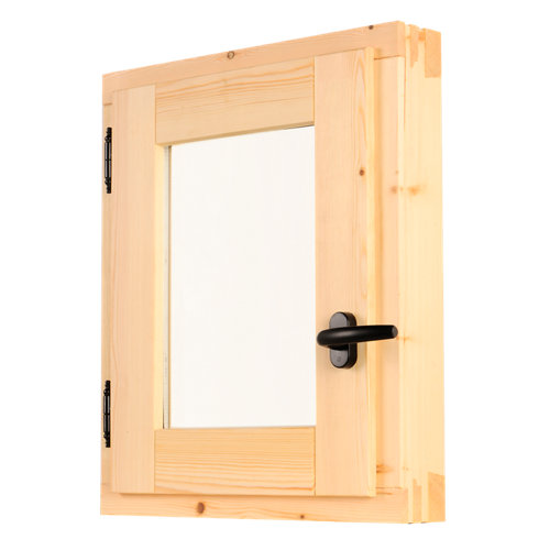 Ventana de madera practicable de 60x80 cm
