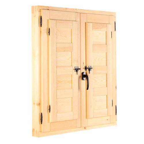 Ventanal de madera practicable de 80x60cm