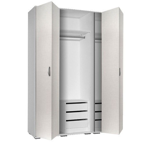 Puerta corredera de armario mallorca blanco de 80x228 cm