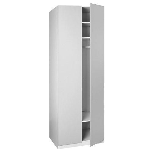 Puerta abatible de armario blanco de 39.8x228 cm