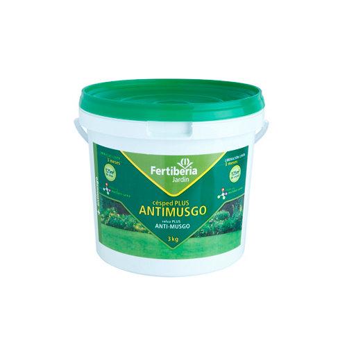 Abono césped antimusgo liberación lenta fertiberia 3 kg